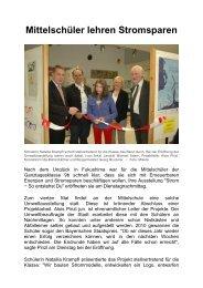 Umweltausstellung der Ganztagsklasse 9b - Magix