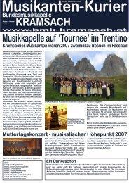 Musikantenkurier der BMK Kramsach 2007 - Bundesmusikkapelle ...