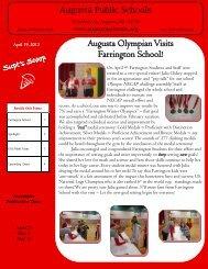 Augusta Olympian Visits Farrington School!