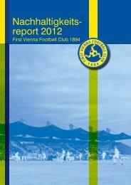 Nachhaltigkeitsreport 2012 - First Vienna FC 1894