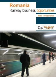Romania - Railway business opportunities. Mass ... - Club Feroviar