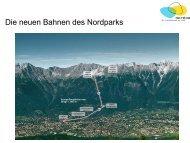 Die neuen Bahnen des Nordparks - ITF Tirol Guides