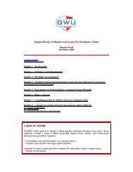 Impact Study on Malta's bid to join the European Union L-ghan ta' l ...