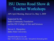 Idaho State University Demonstration Road Show