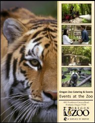 Oregon Zoo Catering & Events