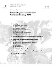 Bagarmossen-Brotorps Kvalitetsredovisning 2008/09