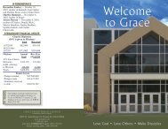 Welcome to Grace - Grace Presbyterian Church