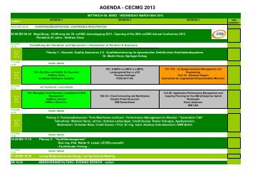 Agenda - ceCMG