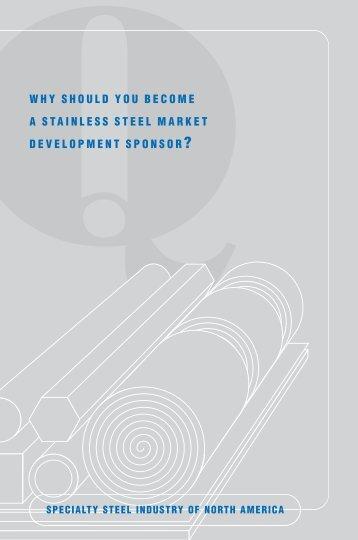 Stainless Steel Market Development Sponsor brochure PDF - SSINA