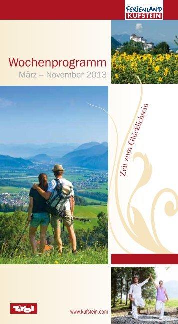 Sommerprogramm - Ferienland Kufstein