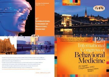 1 September 2012 - 12th International Congress of Behavioral ...