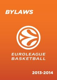 APPENDIX 2 - Euroleague Basketball