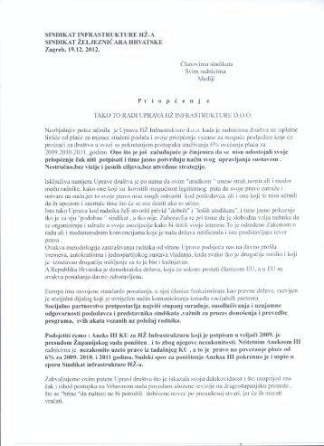 Tako to radi HŽ Infra (PDF) - Sindikat Željezničara Hrvatske