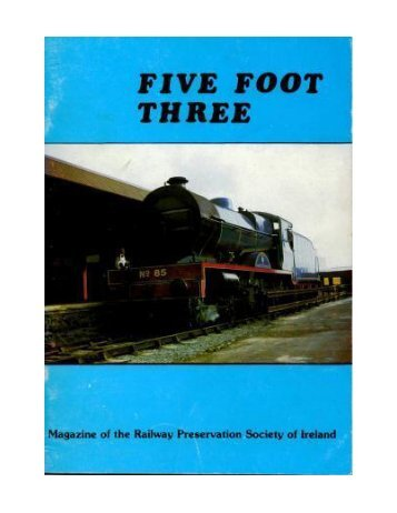 Five Foot Three Number 32 - Railway Preservation Society of Ireland