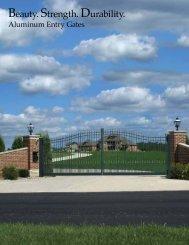 Courtyard Aluminum Entry Gates (pdf) - Allegheny Fence
