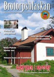 Brotorpsblaskan nr 1 – 2009 - Föräldraföreningen
