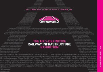 Download the Exhibitor Brochure - Infrarail 2014