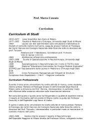 Prof. Marco Cenzato Curriculum Curriculum di Studi - Spinalcord ...