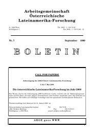 Boletín 7 (1999) - Lateinamerikaforschung Austria