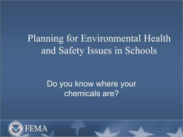 Planning for Environmental Health and Safety Issues in Schools (PDF)