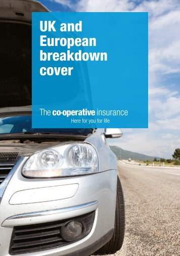 UK and European breakdown cover - The Co-operative Insurance