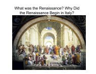 What was the Renaissance? Why Did the Renaissance Begin in Italy?