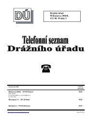 Telefonní seznam - Drážní úřad