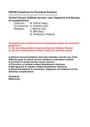ESPEN Guidelines for Parenteral Nutrition ... - Nutritotal