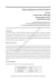 Human Apolipoprotein A1 Elisa Kit - MyBioSource