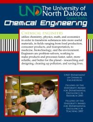 Chemical engineers - University of North Dakota
