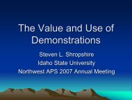 The Value and Use of Demonstrations - Idaho State University