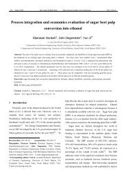 Process integration and economics evaluation of sugar beet pulp ...