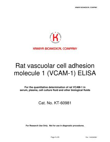 (VCAM-1) ELISA - Kamiya Biomedical Company