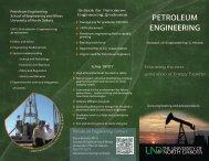 petroleum engineering - Engineering & Mines - University of North ...