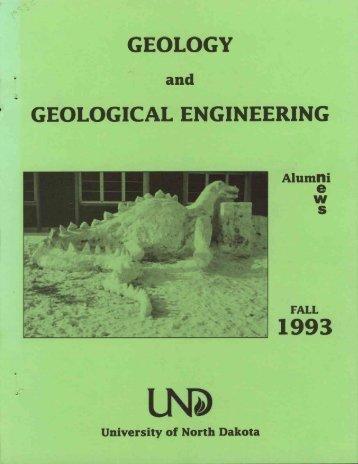 GEOLOGY - Engineering & Mines - University of North Dakota