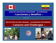 Lessons and Challenges - Canadian Coalition for Global Health ...