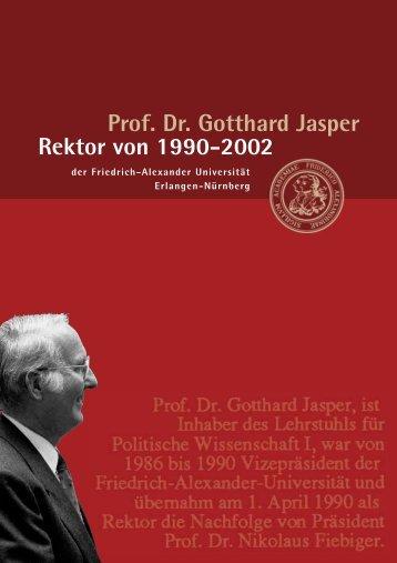 Rektor Jasper - Friedrich-Alexander-Universität Erlangen-Nürnberg