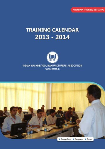 IMTMA Programme Calendar - Indian Machine Tool Manufacturers ...