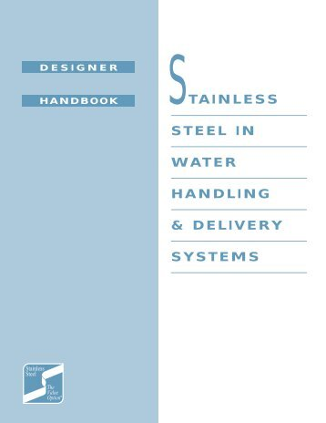 stainless steel in water handling & delivery systems - SSINA