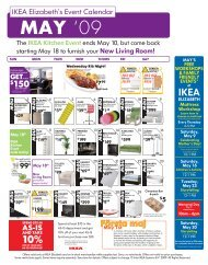 IKEA Elizabeth's Event Calendar - IKEA store