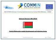 National Glossary BELARUS Central Belarusian spatial ... - COMMIN