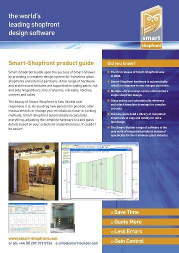 Why Smart-Shopfront? - Smart-Builder