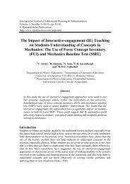 (IE) Teaching on Students Understanding of Concepts in Mechanics