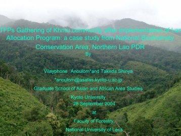 NTFPs Gathering of Khmu community after implementation of ... - TABI