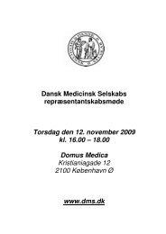 Dansk Medicinsk Selskabs ... - Lægeforeningen