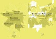 Stockholms parkprogram 2006 - Spacescape