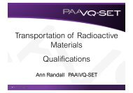 NSA Transport of Radioactive Materials Training Part 1 - Ramtuc