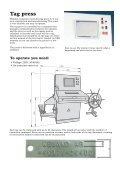 Tag embossing press - Weland Ltd - Page 3