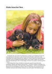 Kinder brauchen Tiere - Familienhandbuch