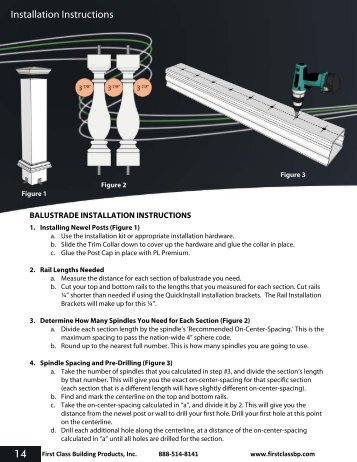 Installation Instructions 14 - Balustrade Systems